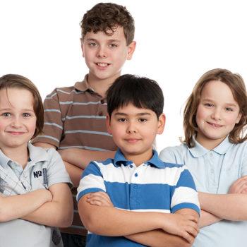 vier coole kinder
