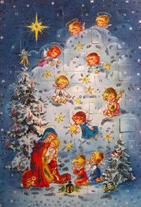 nostalgischer Adventkalender mit Türchen