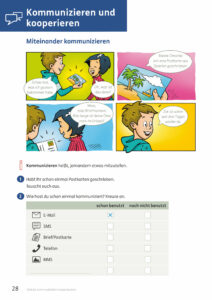 Medienheft, Kommunizieren und kooperieren